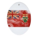 Ontario Flag Ornament (Oval)