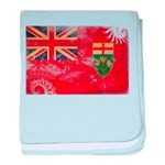 Ontario Flag baby blanket