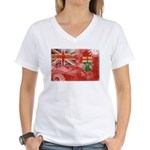 Ontario Flag Women's V-Neck T-Shirt