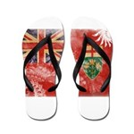 Ontario Flag Flip Flops