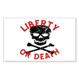 Liberty Or Death Skull Decal