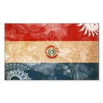 Paraguay Flag Sticker (Rectangle)