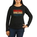 Paraguay Flag Women's Long Sleeve Dark T-Shirt
