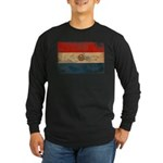 Paraguay Flag Long Sleeve Dark T-Shirt