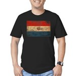 Paraguay Flag Men's Fitted T-Shirt (dark)
