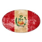 Peru Flag Sticker (Oval)