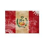 Peru Flag Rectangle Magnet (10 pack)