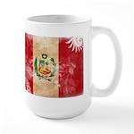 Peru Flag Large Mug