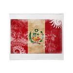 Peru Flag Throw Blanket