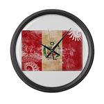 Peru Flag Large Wall Clock