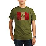 Peru Flag Organic Men's T-Shirt (dark)