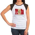 Peru Flag Women's Cap Sleeve T-Shirt