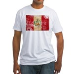 Peru Flag Fitted T-Shirt