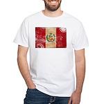 Peru Flag White T-Shirt