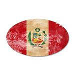 Peru Flag 22x14 Oval Wall Peel
