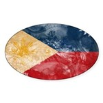 Philippines Flag Sticker (Oval 50 pk)
