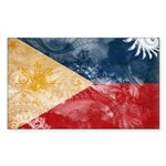 Philippines Flag Sticker (Rectangle)