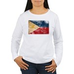 Philippines Flag Women's Long Sleeve T-Shirt