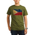 Philippines Flag Organic Men's T-Shirt (dark)