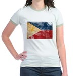 Philippines Flag Jr. Ringer T-Shirt