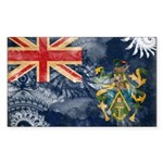 Pitcairn Islands Flag Sticker (Rectangle 50 pk)