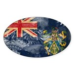 Pitcairn Islands Flag Sticker (Oval 10 pk)