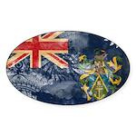 Pitcairn Islands Flag Sticker (Oval 10 pk)