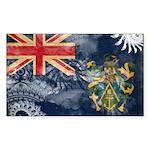 Pitcairn Islands Flag Sticker (Rectangle)