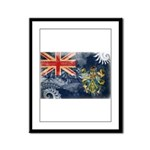 Pitcairn Islands Flag Framed Panel Print