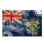 Pitcairn Islands Flag Postcards (Package of 8)