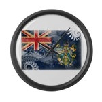 Pitcairn Islands Flag Large Wall Clock
