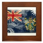 Pitcairn Islands Flag Framed Tile