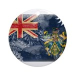 Pitcairn Islands Flag Ornament (Round)