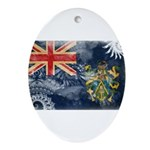 Pitcairn Islands Flag Ornament (Oval)