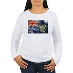 Pitcairn Islands Flag Women's Long Sleeve T-Shirt