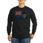 Pitcairn Islands Flag Long Sleeve Dark T-Shirt