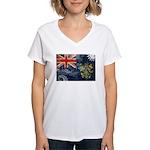 Pitcairn Islands Flag Women's V-Neck T-Shirt