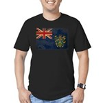 Pitcairn Islands Flag Men's Fitted T-Shirt (dark)