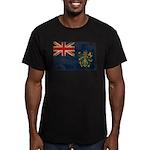 Pitcairn Islands Flag Men's Fitted T-Shirt (dark)
