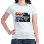 Pitcairn Islands Flag Jr. Ringer T-Shirt