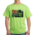 Pitcairn Islands Flag Green T-Shirt