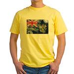 Pitcairn Islands Flag Yellow T-Shirt