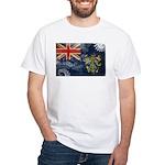 Pitcairn Islands Flag White T-Shirt