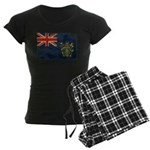 Pitcairn Islands Flag Women's Dark Pajamas