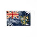 Pitcairn Islands Flag Aluminum License Plate