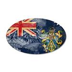 Pitcairn Islands Flag 38.5 x 24.5 Oval Wall Peel