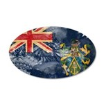 Pitcairn Islands Flag 22x14 Oval Wall Peel