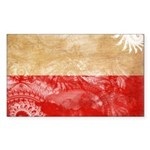 Poland Flag Sticker (Rectangle 50 pk)