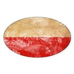 Poland Flag Sticker (Oval 50 pk)