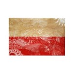 Poland Flag Rectangle Magnet (100 pack)